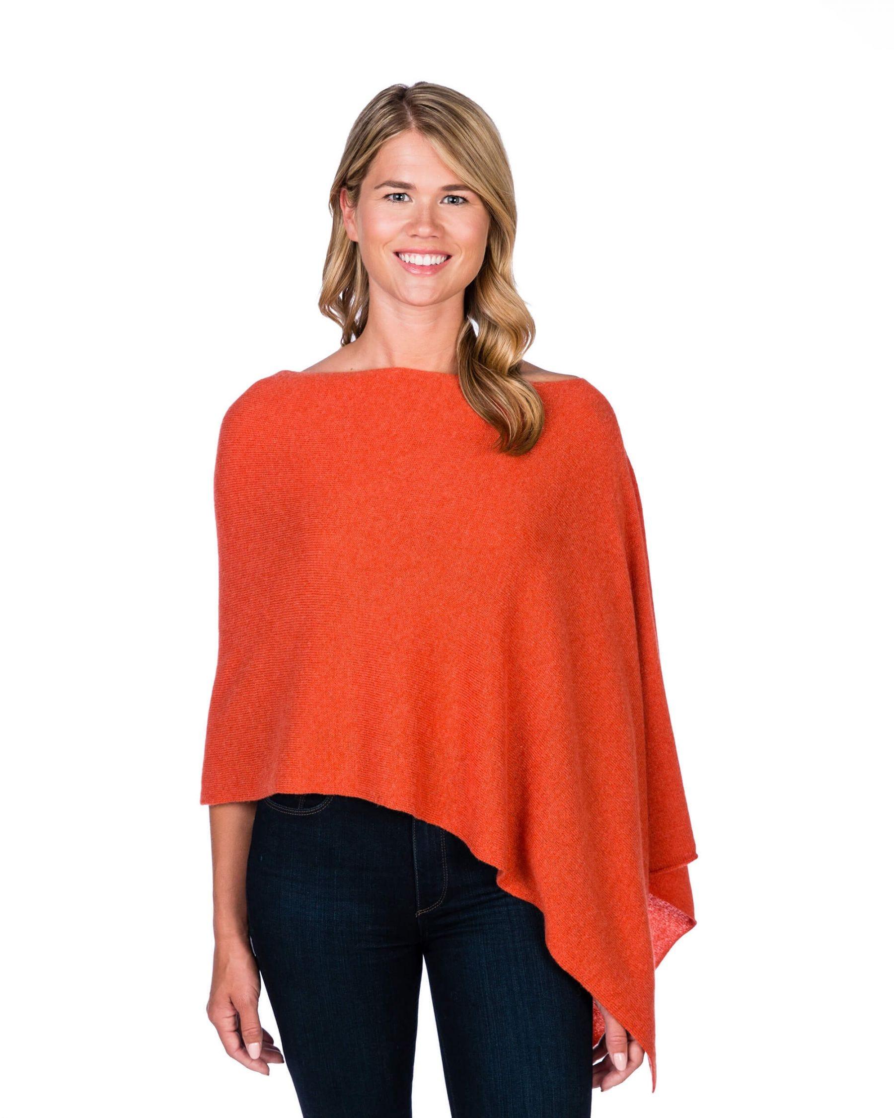 Cashmere Dress Topper/Poncho in Autumn