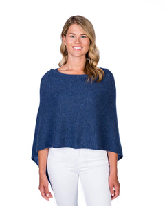 Cashmere Dress Topper/Poncho in Denim