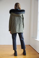 Load image into Gallery viewer, Tiffany Faux Fur Lined Parka in Olive