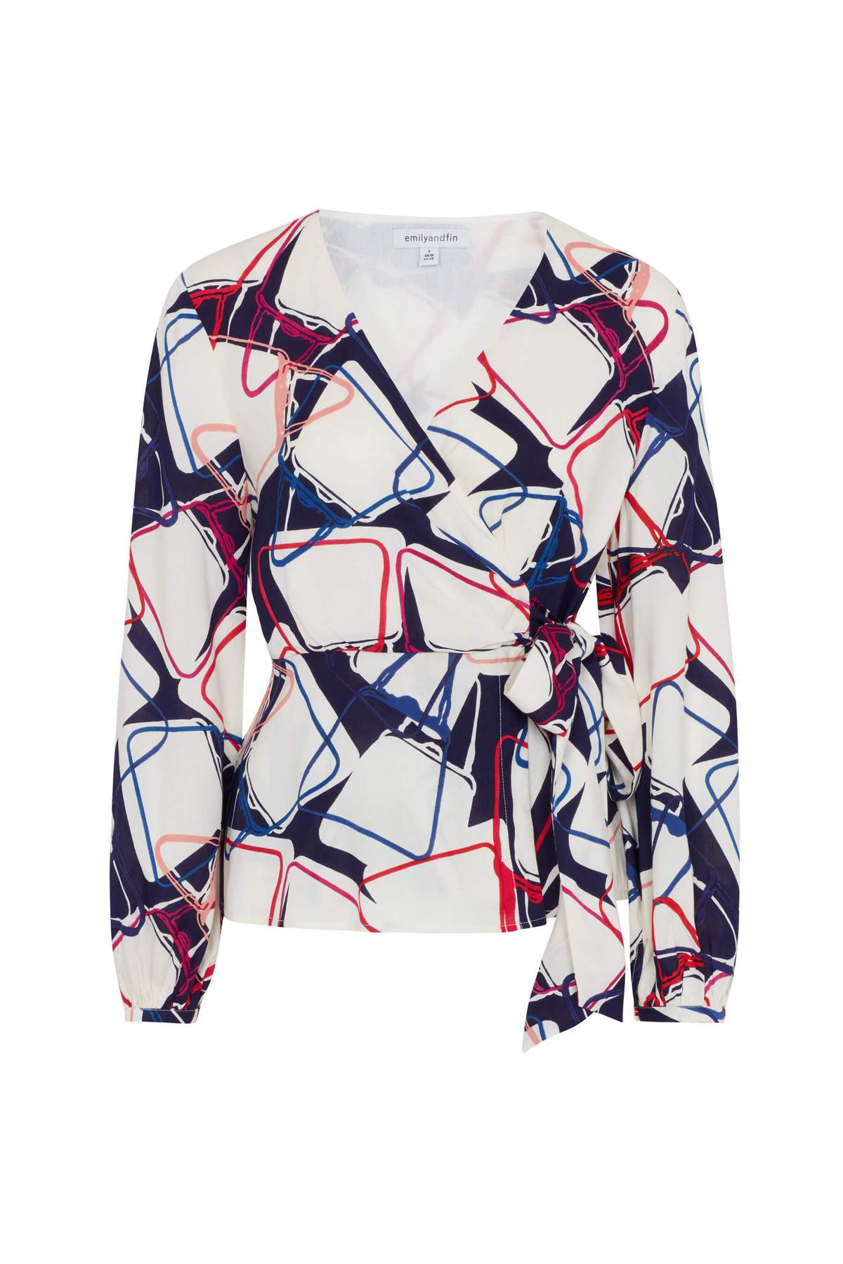 Luna Wrap Top in Abstract