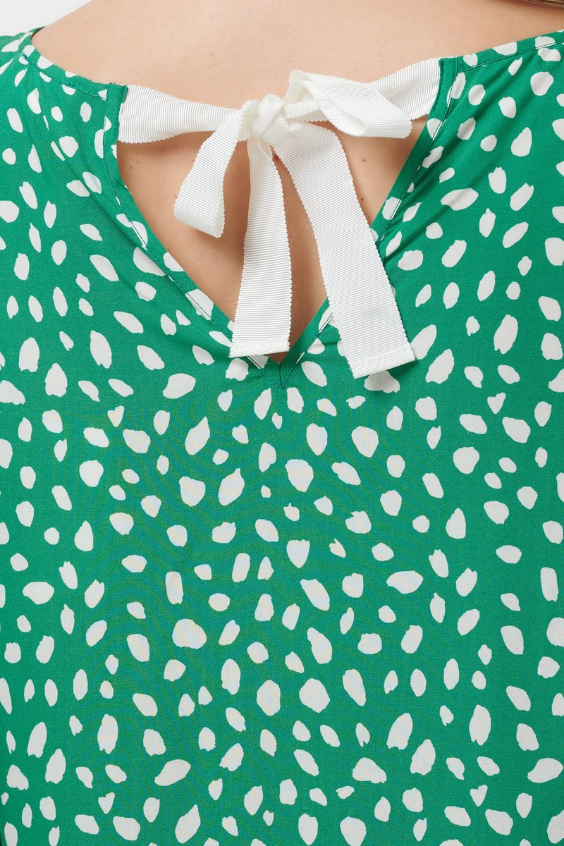 Painterly Spot Blouse in Green