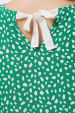 Load image into Gallery viewer, Painterly Spot Blouse in Green