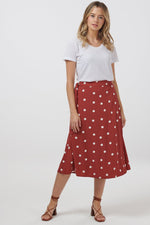 Load image into Gallery viewer, Polka Dot Midi Skirt