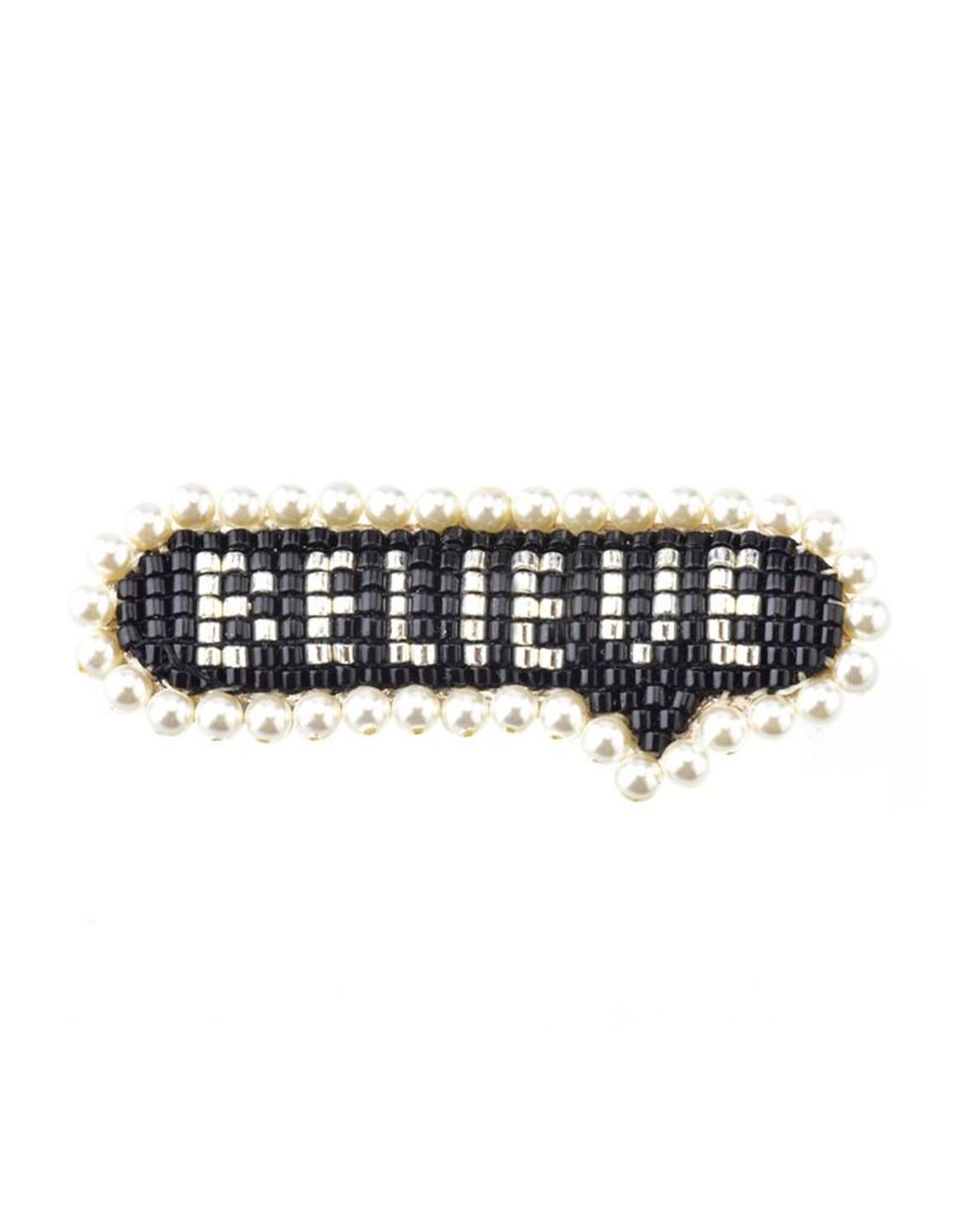 Beaded Hair Clip in BELIEVE