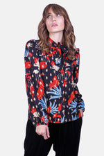 Load image into Gallery viewer, Prairie Blouse in Black Floral