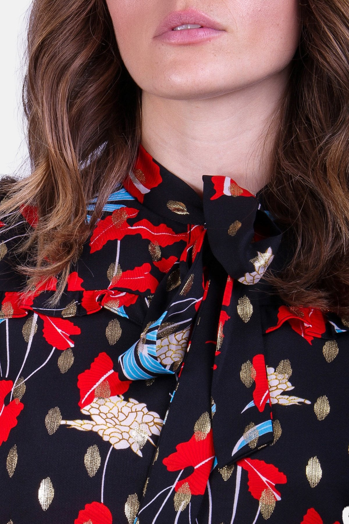 Prairie Blouse in Black Floral