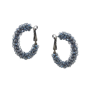 Small Crystal Cluster Hoop in Montana Blue