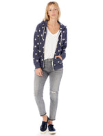 Load image into Gallery viewer, Printed Hoodie in Navy Star