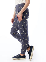 Load image into Gallery viewer, Fleece Jogger in Navy Star