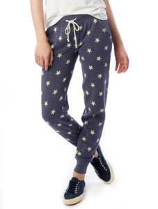 Fleece Jogger in Navy Star