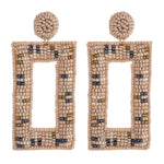 Load image into Gallery viewer, Beaded Geometric Earring in Nude Combo