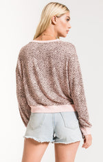 Load image into Gallery viewer, Mini Leopard Pullover in Pale Blush