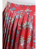 Load image into Gallery viewer, Mini Pleated Skirt in Palm Tree Red