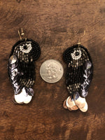 Load image into Gallery viewer, Beaded Parrot Earring in Black