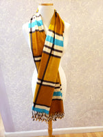 Load image into Gallery viewer, Plaid Scarf Scarf in Mustard