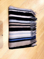 Load image into Gallery viewer, Striped Scarf in Grey
