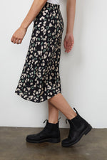 Load image into Gallery viewer, Moanna Midi Skirt in Snow Leopard
