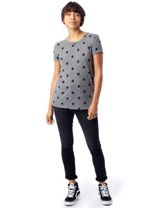 Printed Eco-Jersey T-Shirt in Grey Star