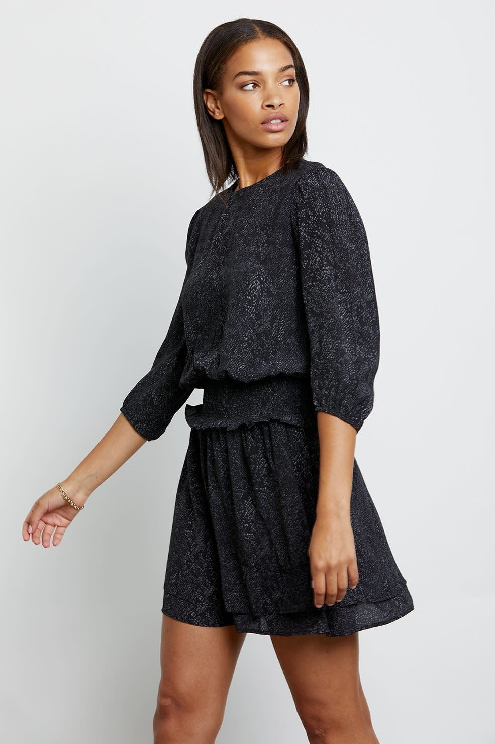 Inez Dress in Slate Python
