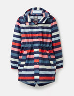 Load image into Gallery viewer, Golightly Rain Jacket in Navy Stripe