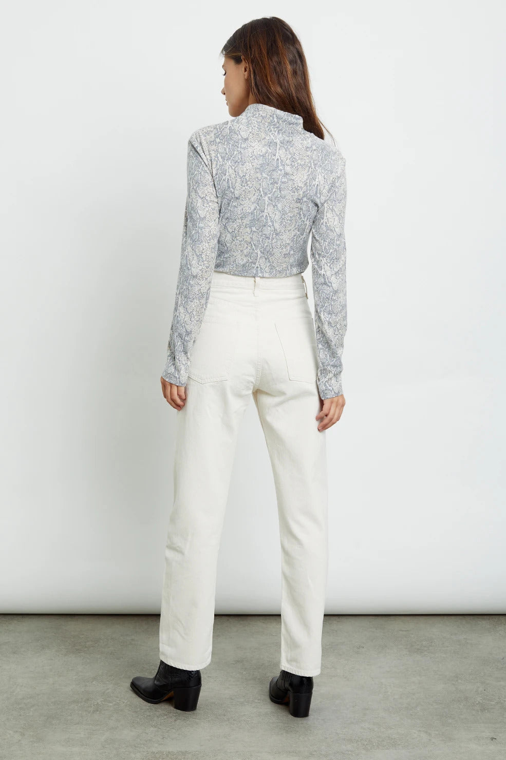 Ray Top in Ivory Snakeskin
