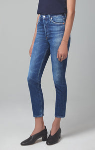 Olivia Crop High Rise Slim Fit in Reset