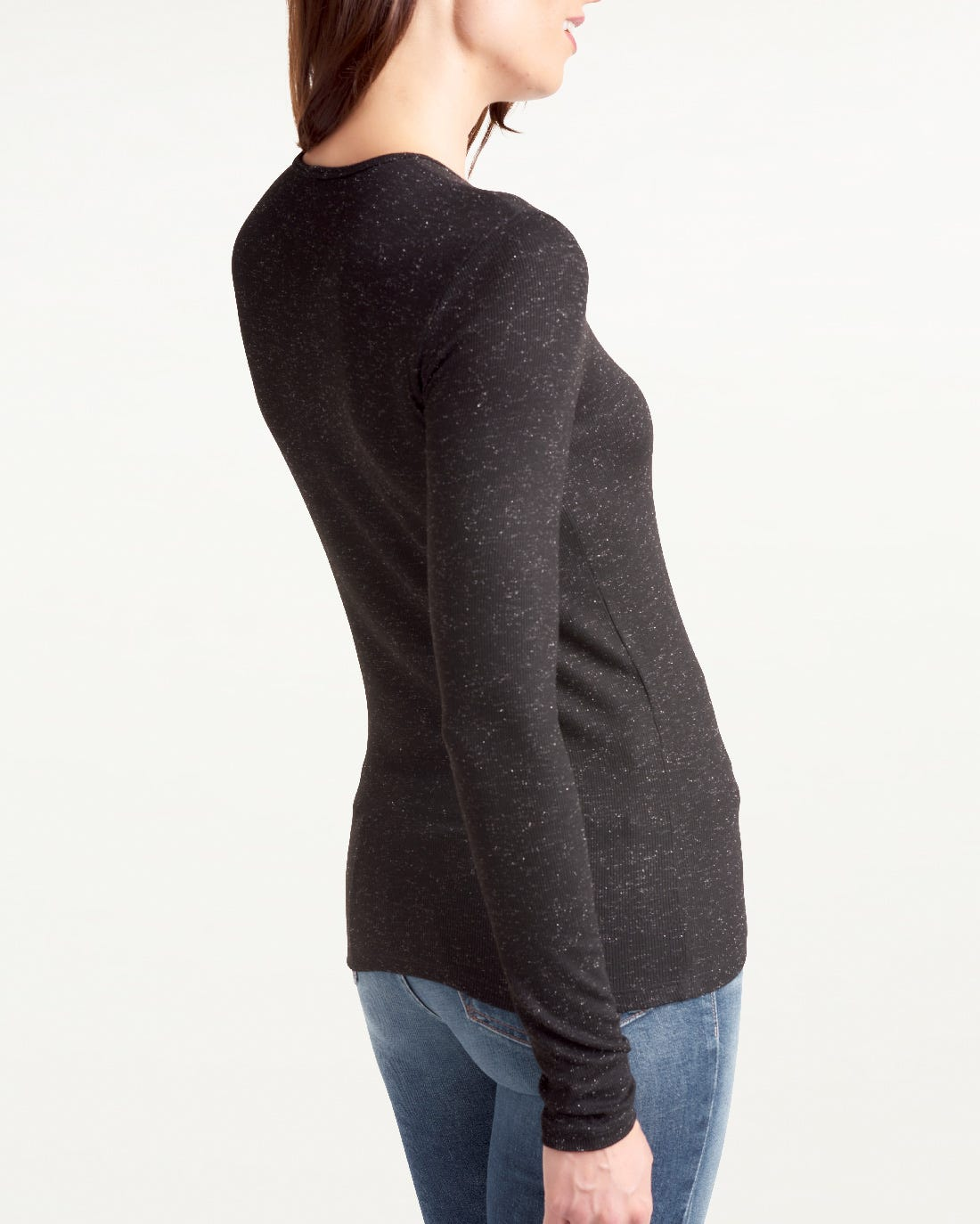 Glimmer Long Sleeve Shirt in Black