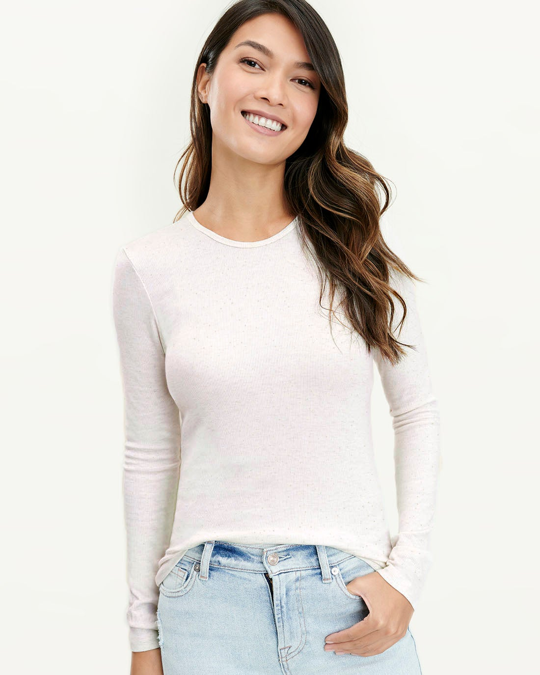 Glimmer Long Sleeve Shirt in Heather Ice