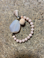 Load image into Gallery viewer, Gemstone Stretch Bracelet in Rose Quartz Combo