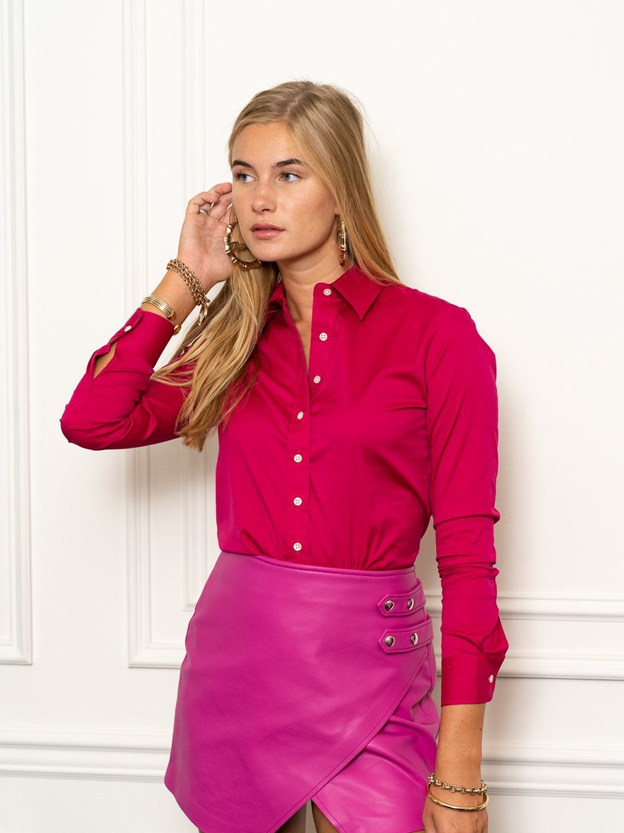 The Essentials Icon Shirt in Fuchsia