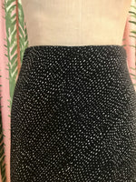 Load image into Gallery viewer, Bias Cut Midi Skirt in Black Print