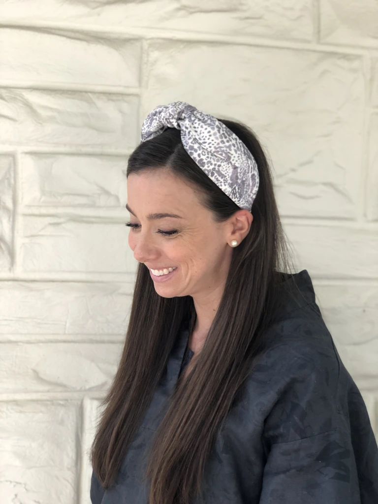 Fabric Headband in Snakeskin
