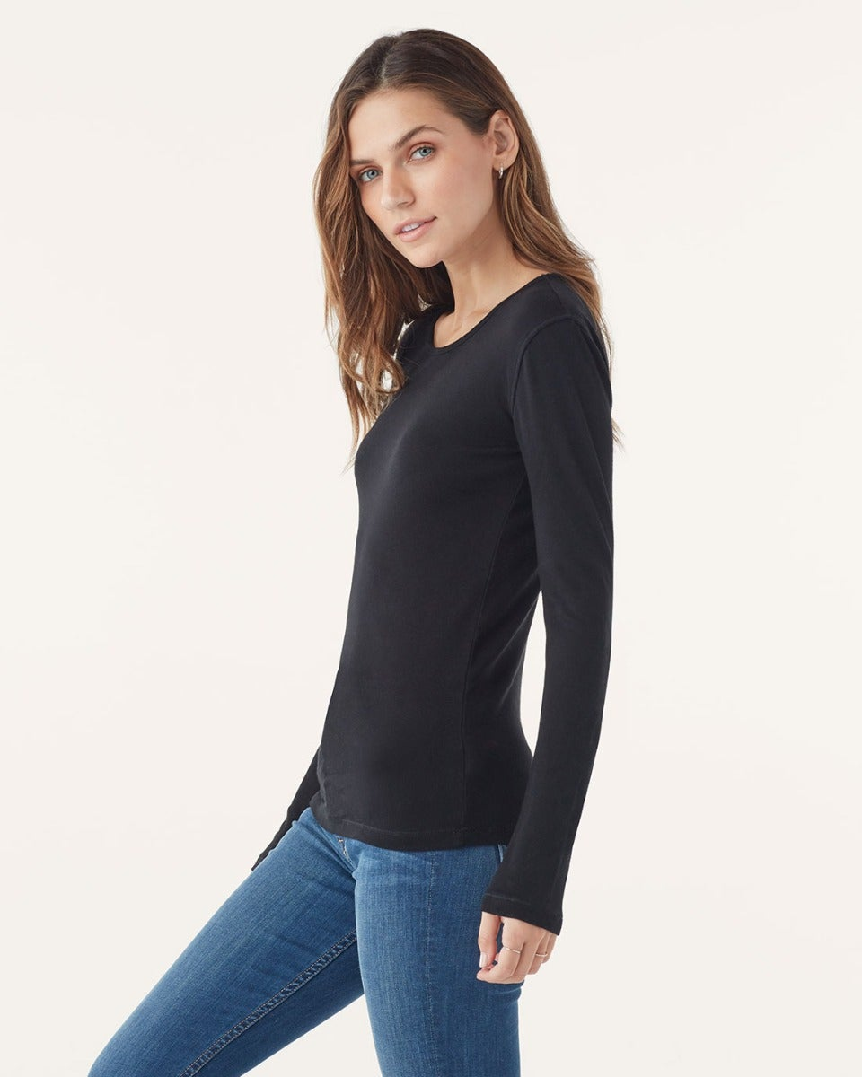 Classic Longsleeve Crew Neck Shirt in Black