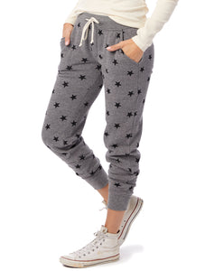 Fleece Jogger in Grey Star