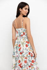 Load image into Gallery viewer, St. Martin Maxi Dress in Garden At Dawn Ivory