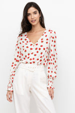 Load image into Gallery viewer, Strawberry Print Blouse
