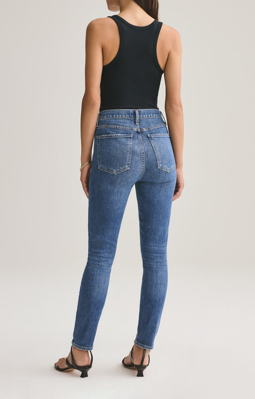Nico High Rise Slim Fit Jean in Subdued