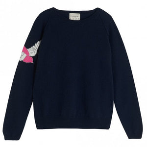 Swallow Cashmere Sweater in Navy