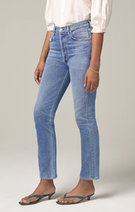 Charlotte High Rise Straight Fit Jean in Taboo