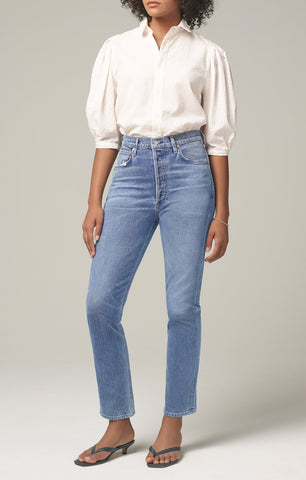 Charlotte High Rise Straight Fit Jean