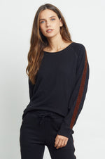 Load image into Gallery viewer, Theo Sweatshirt in Black Velvet Leopard
