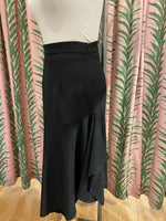Load image into Gallery viewer, Asymmetrical Charlotte Skirt in Black