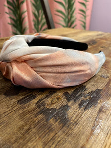 Watercolor Headband in Pink Combo