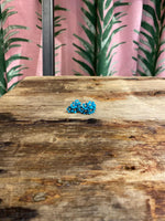 Load image into Gallery viewer, Small Cascading Floral Mini Earring in Aqua