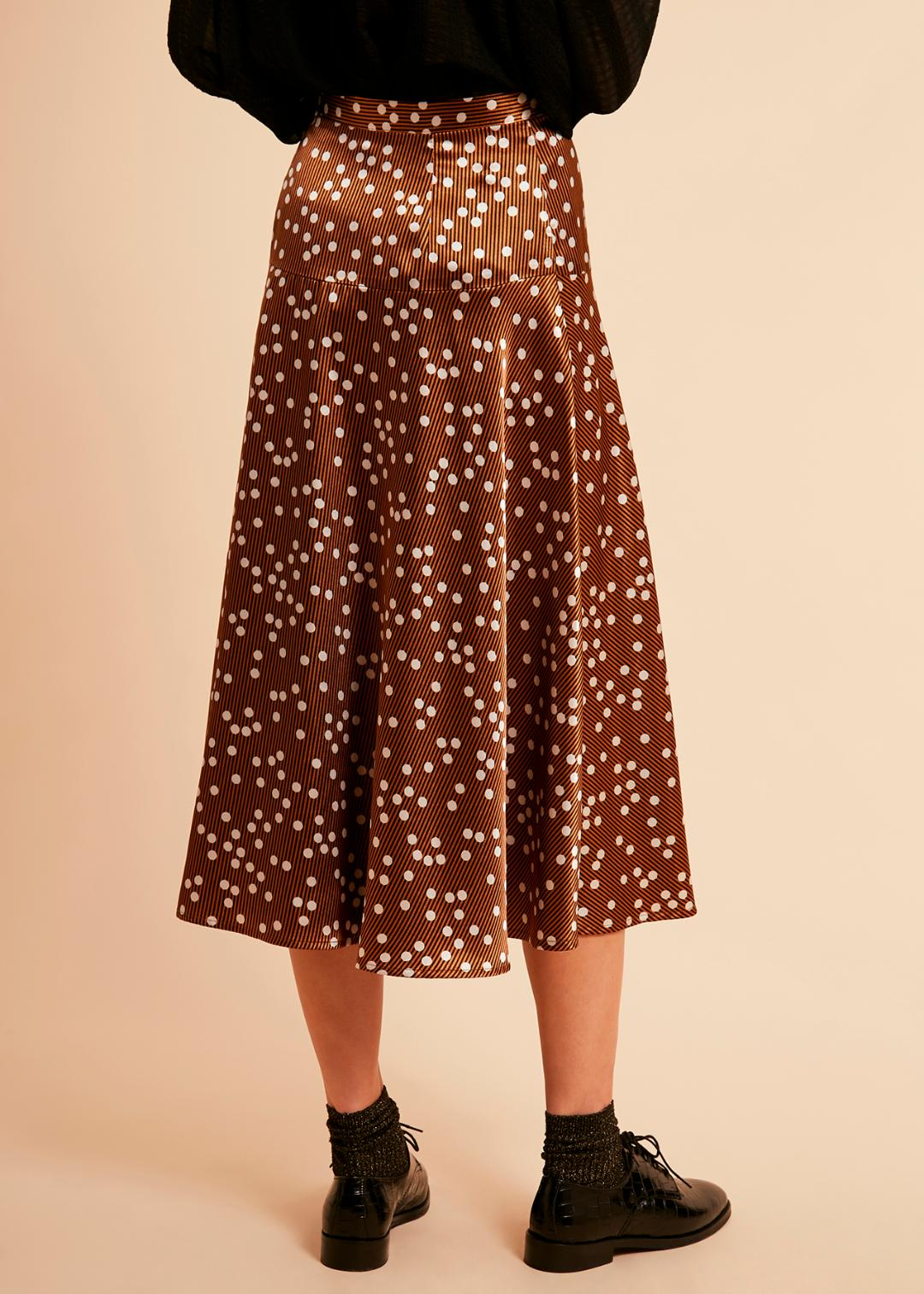 Edelweiss Skirt in Sugar Brown