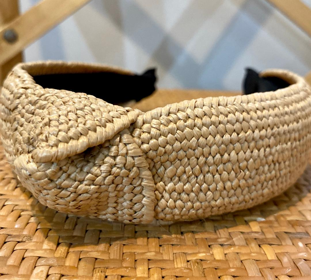 Rattan Headband in Natural