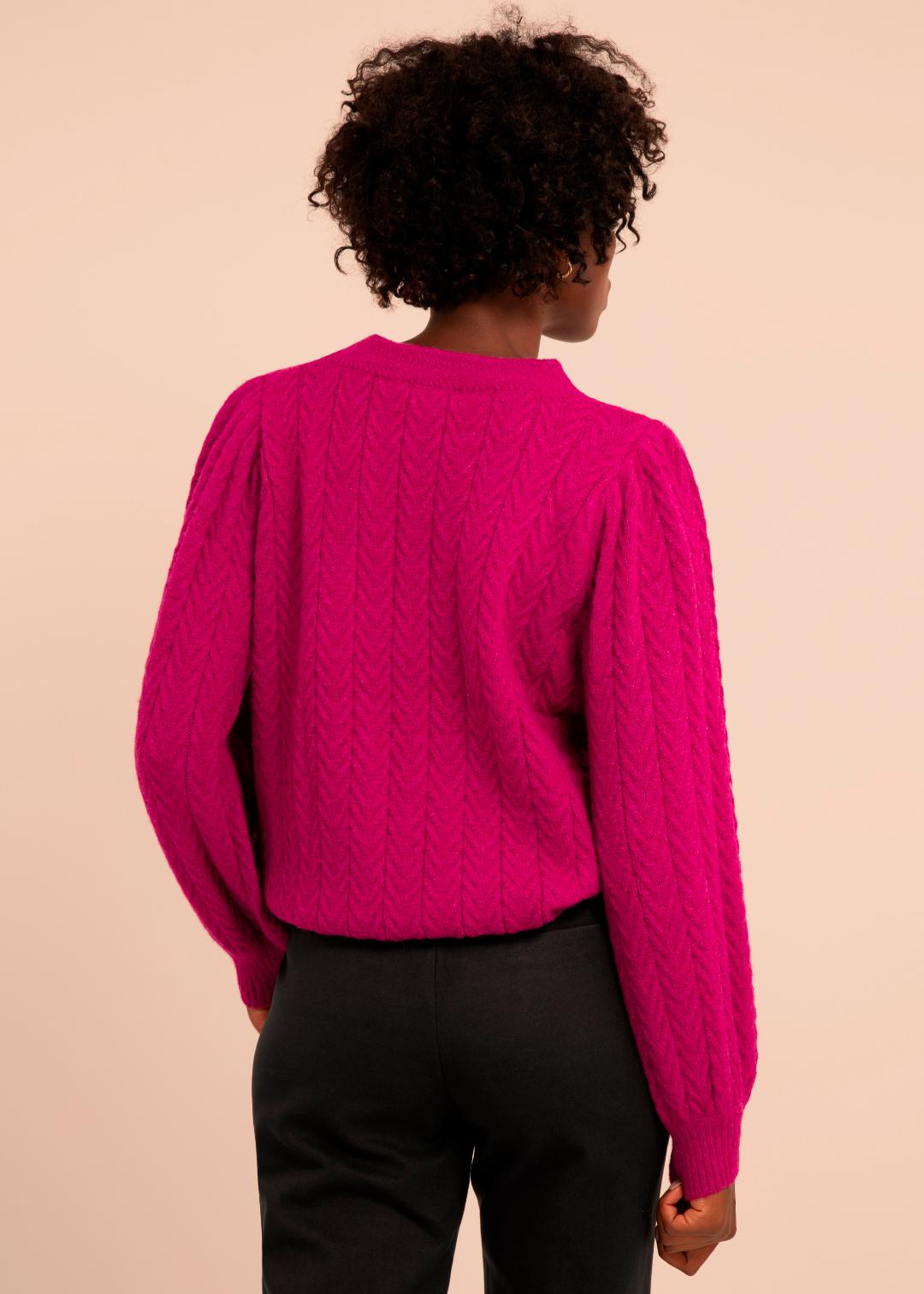 Neve Sweater in Fuchsia