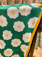 Load image into Gallery viewer, Modern Flower Print Scarf in Green Combo