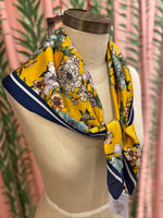 Load image into Gallery viewer, Floral Bouquet Scarf in Yellow Combo