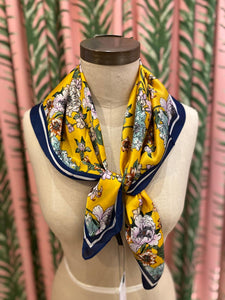 Floral Bouquet Scarf in Yellow Combo